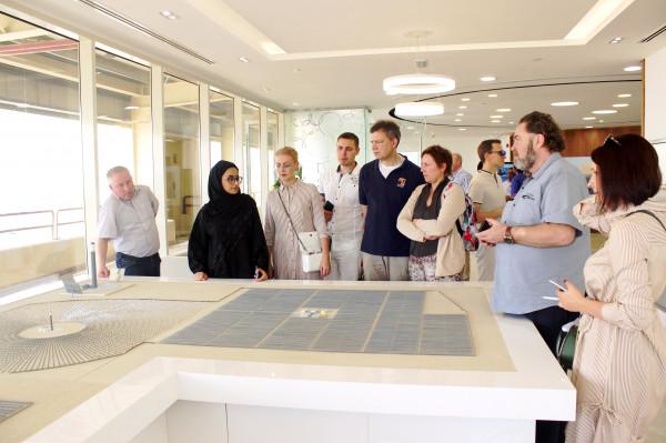 The «Business Russia» delegation being a part of a business mission to UAE visits Mohamed bin Rashid Al Maktoum Solar Park