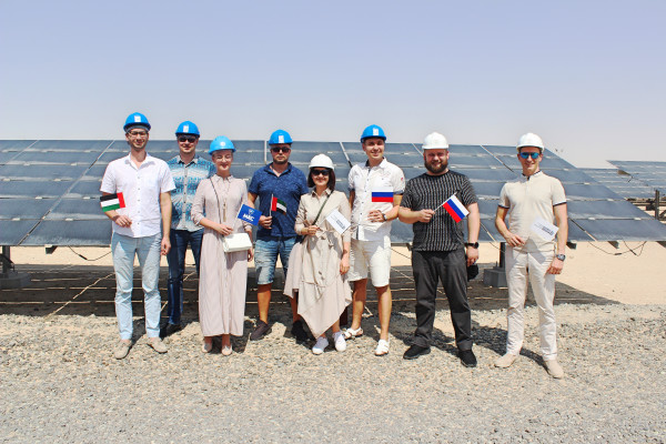 The «Business Russia» delegation being a part of a business mission to UAE visits Mohamed bin Rashid Al Maktoum Solar Park