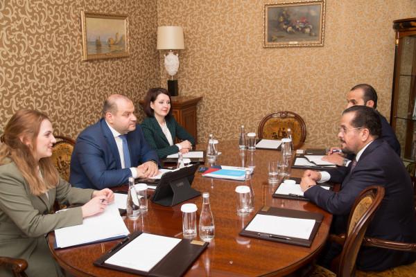 Бизнес-посол «Деловой России» в ОАЭ Максим Загорнов встретился с Послом ОАЭ в России Маададом Харебом Альхейли