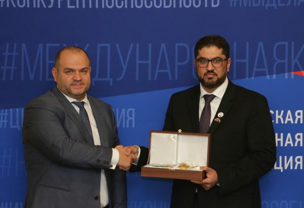 UAE Ambassador to the Russian Federation Mohammed Ahmed Al-Jaber sent a letter of gratitude to the business ambassador of Business Russia to the UAE Maksim Zagornov